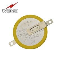 50 개/몫 wama cr2032 탭 솔더 발 납땜 용접 배터리 코인 배터리 210 mah 3 v 버튼 2032 셀 배터리 oem diy