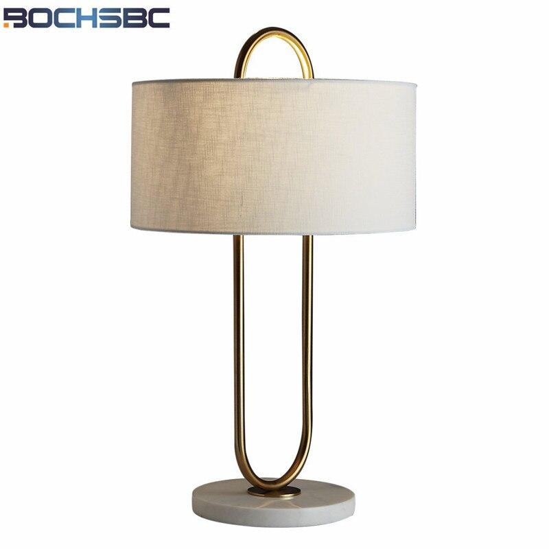 Lámpara de mesa minimalista, moderna y creativa, lámpara de mesa con Base de mármol H57cm