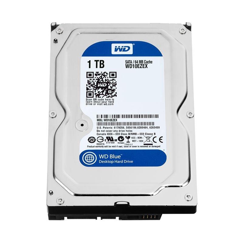 1 تيرا بايت WD الأزرق 3.5 SATA 6 جيجابايت/ثانية HDD sata الداخلية قرص صلب 64 M 7200PPM محرك سطح المكتب hdd ل PC WD10EZEX