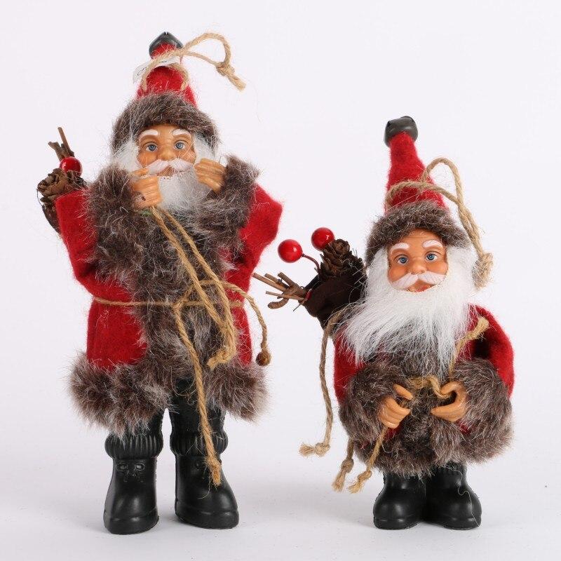 Рождественский Санта-Клаус кукла игрушка Рождественская елка украшения изысканное украшение для дома Рождество С Новым Годом подарок