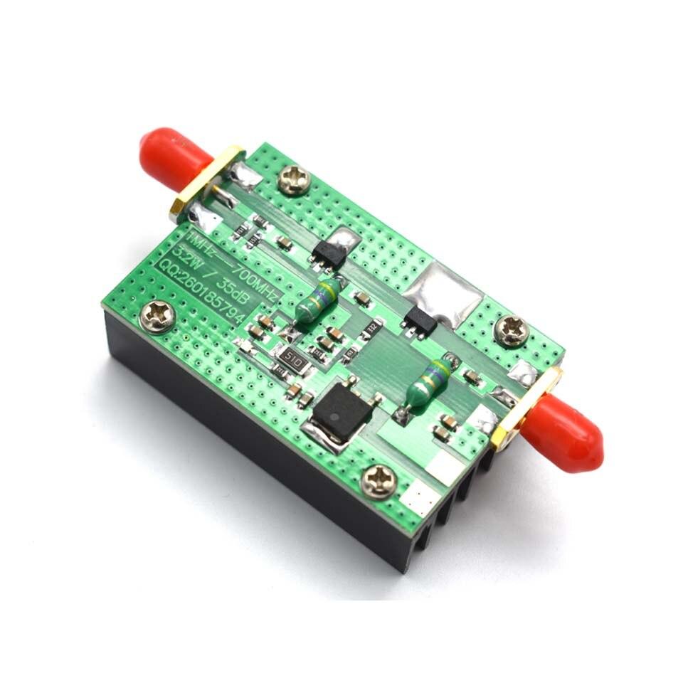 Lusya 1MHz-700MHZ HF VHF UHF FM Transmisor de RF amplificador de potencia de 3,2 W con disipador de calor jamón módulo de Radio DC 15V A6-020