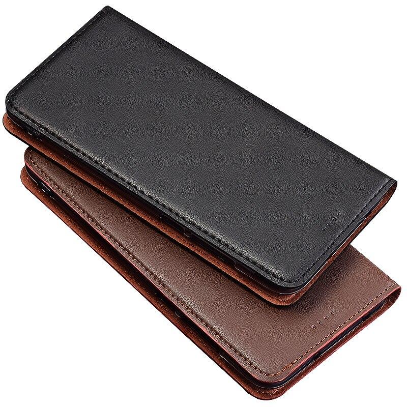 QX04 de cuero genuino de la bolsa del teléfono con soporte de tarjeta para Huawei P20 (5,7 ) funda del teléfono para Huawei P20 caso envío gratis