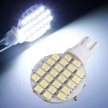 En iyi Fiyat Beyaz 168 194 501 W5W 24 SMD 1210 LED Panel Araba Oto Sidelight Kama Işık lamba ampulü DC12V