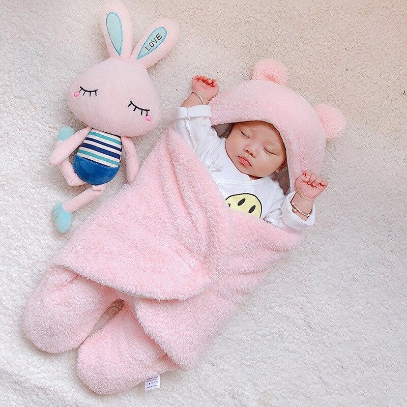 Baby Blanket Cotton Baby Goods Newborns swaddle me wrap sleepping bag decke cobertor infantil bebek kundak bebe invierno