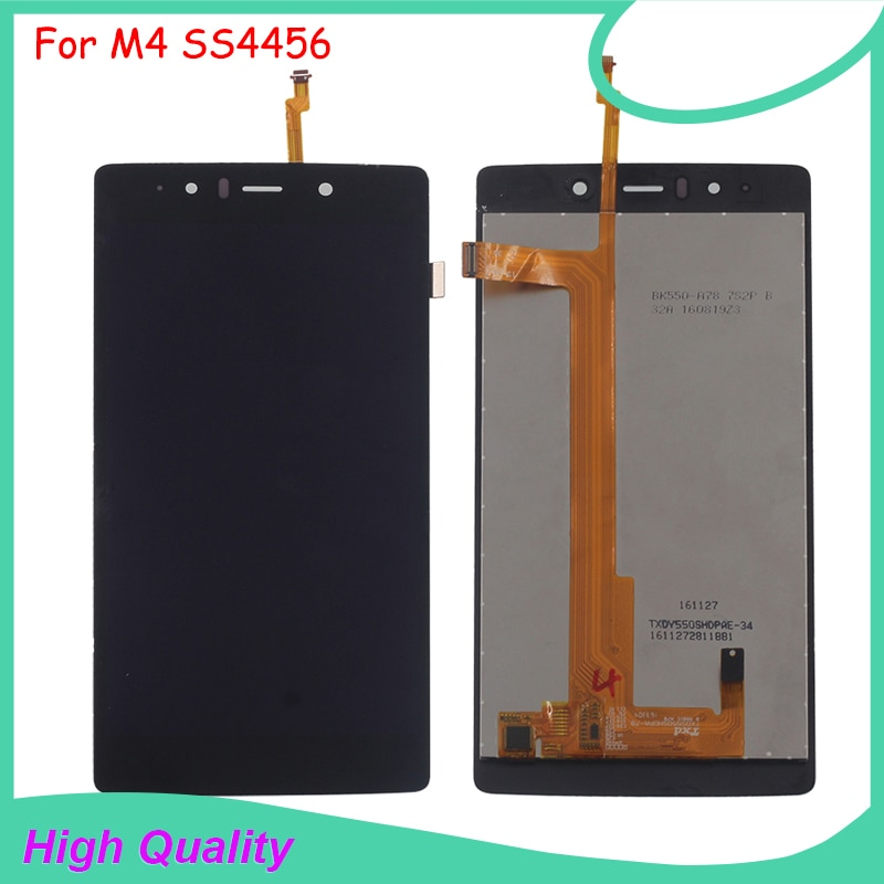 LCD Display Touch Screen For M4 SS4456 4456 TXDS550SHDPA-78 Black Color Mobile Phone LCDs Free Shipp
