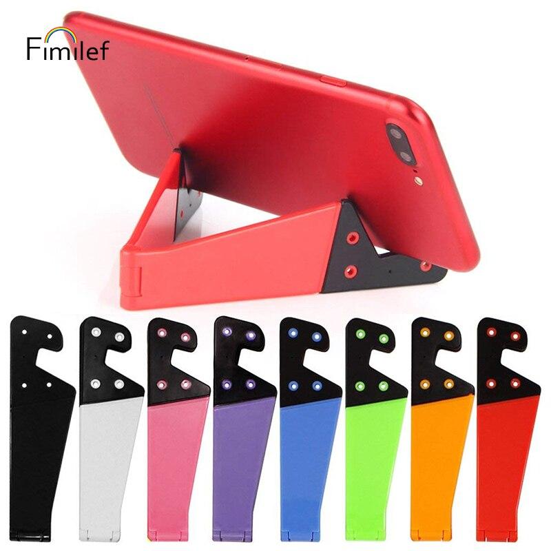 Fimilef טלפון מחזיק מתקפל נייד תמיכה Stand עבור iPhone X Tablet סמסונג S10 מתכוונן נייד Smartphone מחזיק מעמד