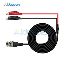 1 takım çok işlevli kombinasyon testi kablo tel BNC erkek fiş çift timsah klip osiloskop Test probu kurşun kablo 1M