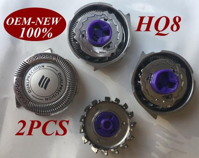 2 Pcs lâmina de barbear Cabeça Substituição para Philips Norelco HQ8 Barbeador HQ8445 HQ8825 HQ8845 HQ8865 HQ8875 HQ8885 HQ8893 HQ6075 HQ6090