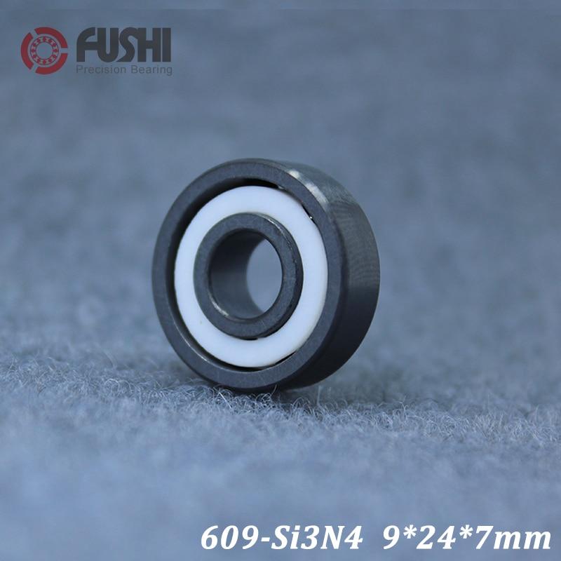 609 rolamento cerâmico completo (1 pc) 9*24*7mm si3n4 material 609ce todos os rolamentos de esferas cerâmicos do nitreto do silicone
