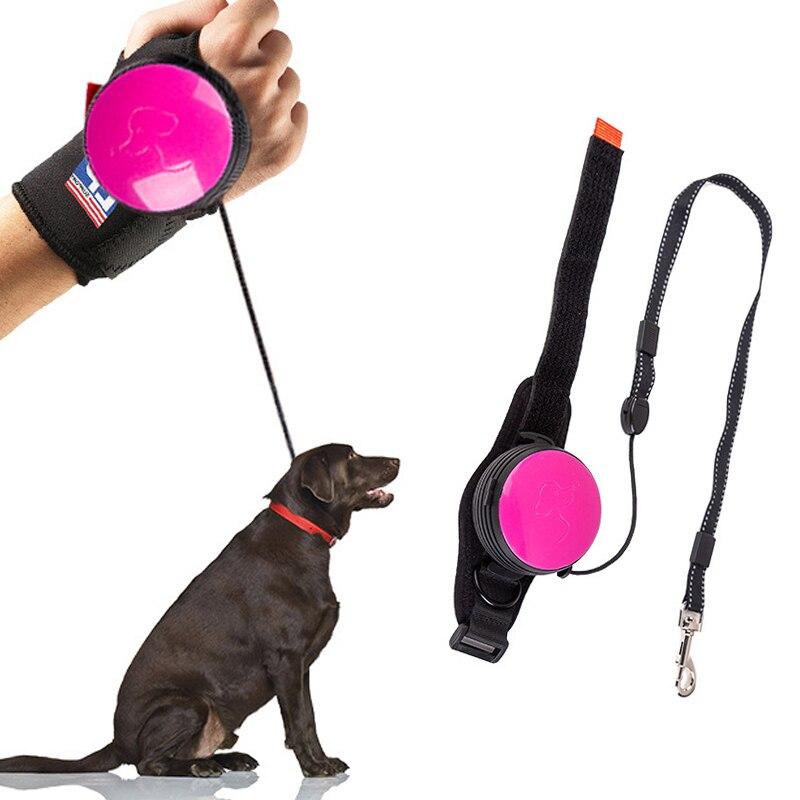 Handsfree наручный Выдвижной Поводок для собак поводок для домашних животных Тяговая Веревка Регулируемый 3 м терьер пояс для поводка наручный ремень для бега беговые товары для собак