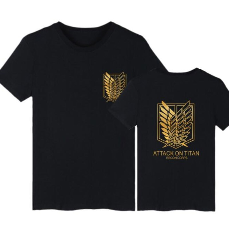 Япония Аниме атака на Титанов футболка для женщин и мужчин Косплей Костюм Shingeki no Kyojin 100% хлопок короткий рукав хип-хоп Футболка Homme