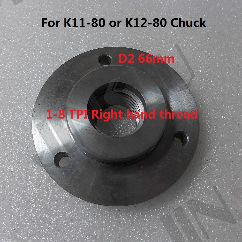 mt3 ms3 taper shank ring flange plate connector adapter for k11 k12 125mm 5 5inch 3jaws 4jaws 125 chuck lathe spindle milling 1-8 TPI Spindle Thread Chuck Flange Back Plate base plate Adapter Plate for K11-80 K12-80 3 inch 3 jaws 4 jaws chuck