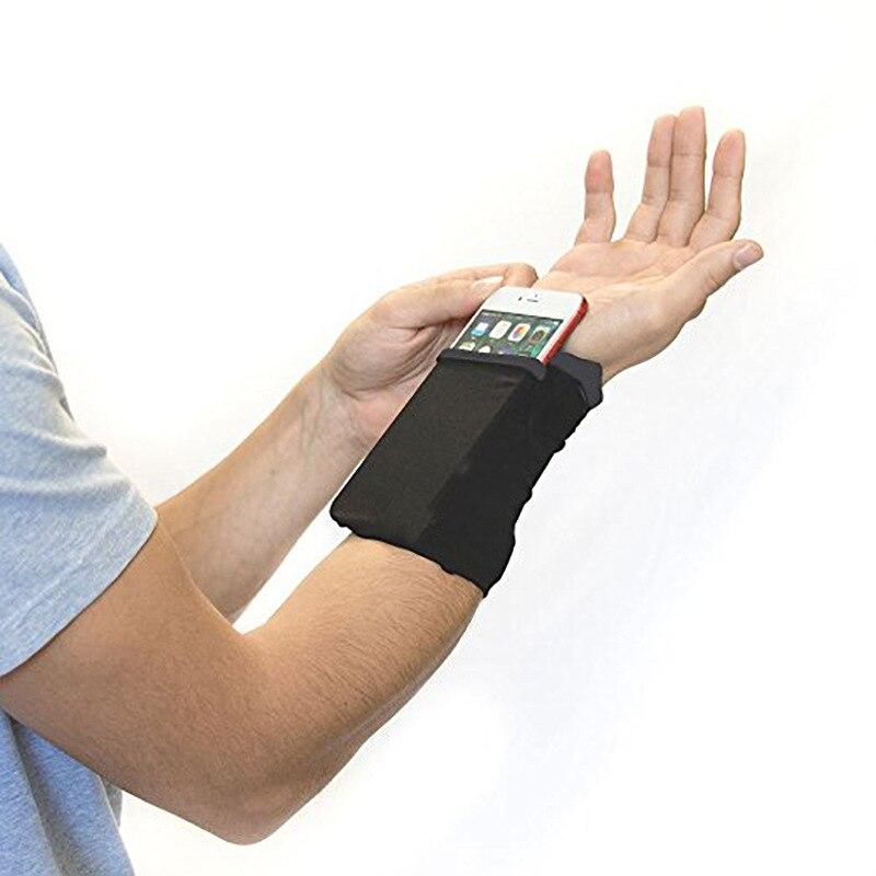 Travel Portable Pocket Key Zipper Wrist Band Wallet Multifunctional Unisex Men Women Arm Band Bag Travel Accessories