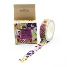 1 PCS New The Beauty of Nature Washi Tape DIY Decoration Scrapbooking Planner Masking Tape Adhesive Tape Kawaii Stationery