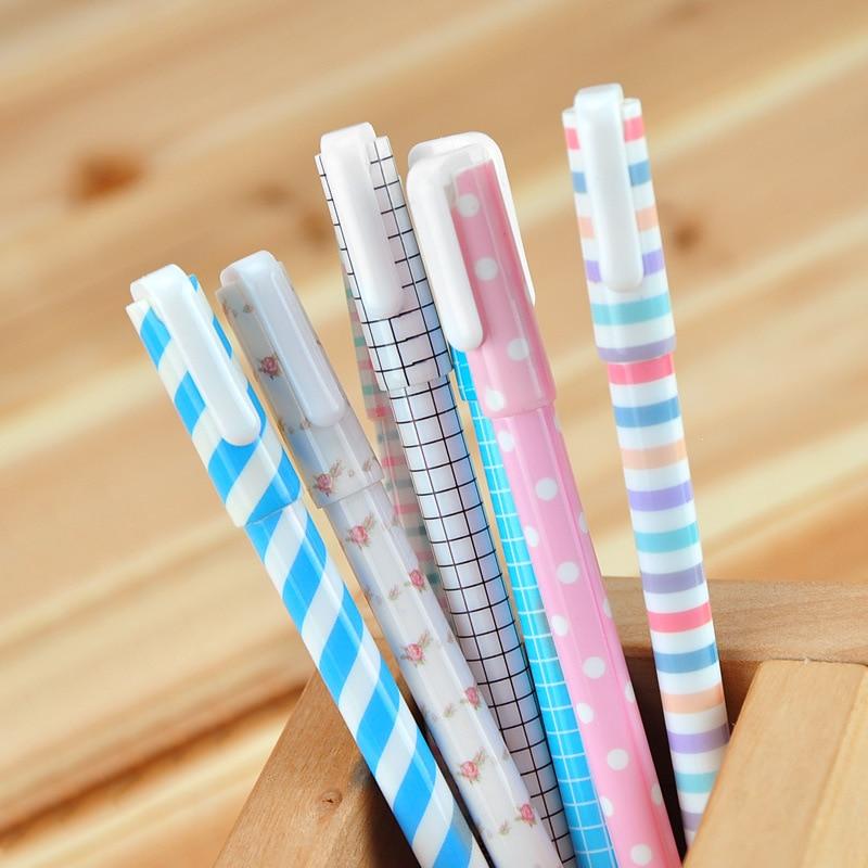 2 pçs gel canetas dos desenhos animados frescos preto colorido kawaii presente gel-tinta canetas para escrever bonito artigos de papelaria material escolar de escritório 35mm