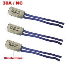 115 120 125 130 degrés Celsius KSD9700 250V 30A Normal fermé NC protecteur thermique bimétallique Thermostat interrupteur de contrôle de température