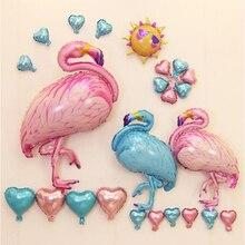 4 Size Pink Flamingos Balloons Cartoon Animal Foil Balloon Wedding Birthday Party Decoration Helium Inflatable Baloon Kids Toy