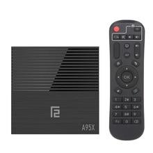 A95X F2 TV Box Android 9.0 Smart TV Box Amlogic S905X2 4K 4GB + 32GB 2.4G WiFi HD lecteur multimédia Support de lecteur vidéo 32GB TF carte