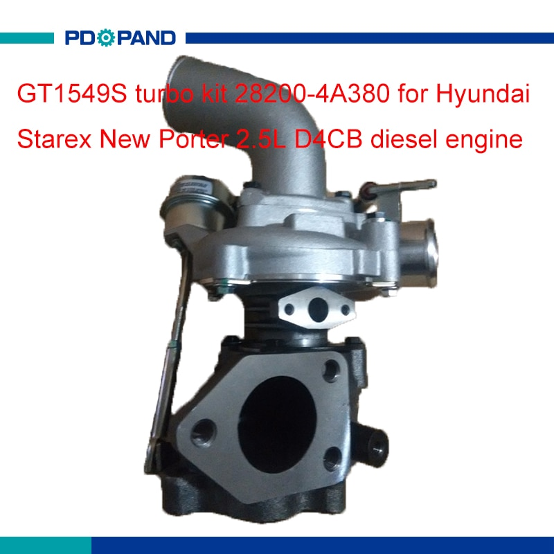 Motor turbo compressor supercharger kit carregador GT1549S 28200-4A380 para Hyundai Starex Novo Porter 2.0L D4CB motor diesel