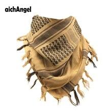 AichAngeI-écharpe tactique de larmée   Châle thermique pour homme, imprimé de Combat militaire, bicyclette coupe-vent, écharpes de désert arabe, châle KeffIyeh