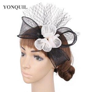 Elegant Bide Sinamay Fascinator Wedding Headwear Flower Handmade Hat For Occasion Ladies Headwear Hair Pin Mesh Hair Accessories