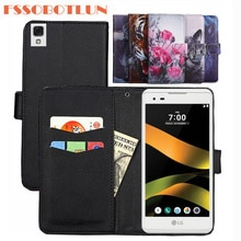 FSSOBOTLUN 9 Colors For LG Tribute HD Case PU Leather Retro Flip Cover Shell Magnetic Fashion Wallet