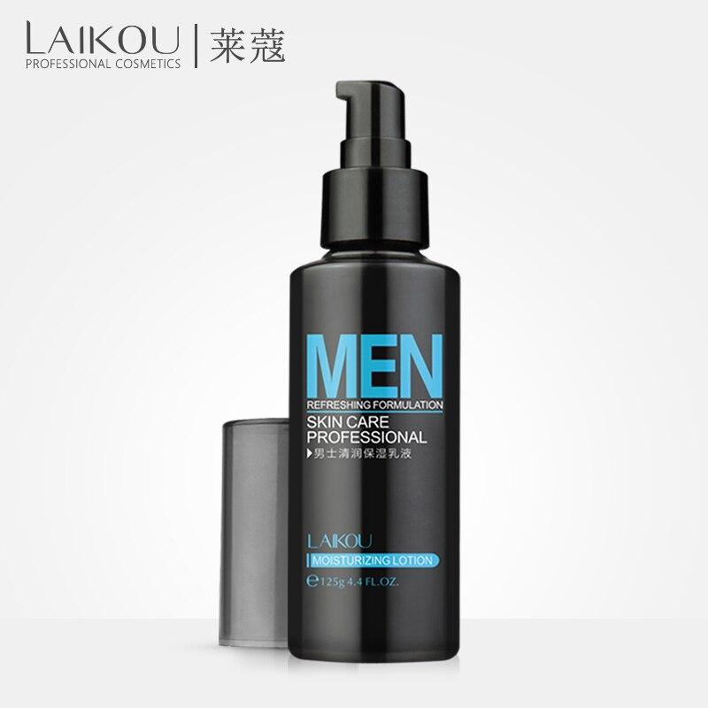 LAIKOU loción Natural para el cuidado de la piel de los hombres loción Facial hidratante aceite de loción Balance iluminar poros minimiza 125g crema Facial para hombres