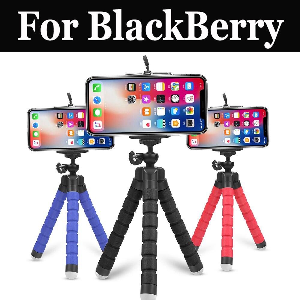 Portátil Mini Flexible esponja pulpo trípode soporte para la cámara del teléfono soporte para Blackberry Dtek50 Motion Aurora Keyone Evlove Key2