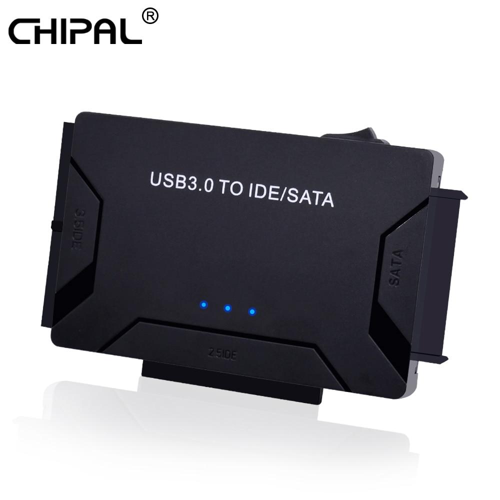 "CHIPAL USB 3,0 a IDE PATA adaptador SATA USB3.0 convertidor de transferencia de datos para PC ordenador portátil 2,5 ""3,5 pulgadas Disco Duro HDD SSD Unidad óptica"