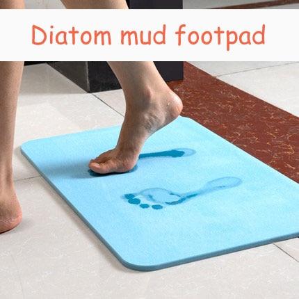 Diatom mud mat bathroom water-absorbing quick-drying mat bathroom toilet natural diatom soil mat mat