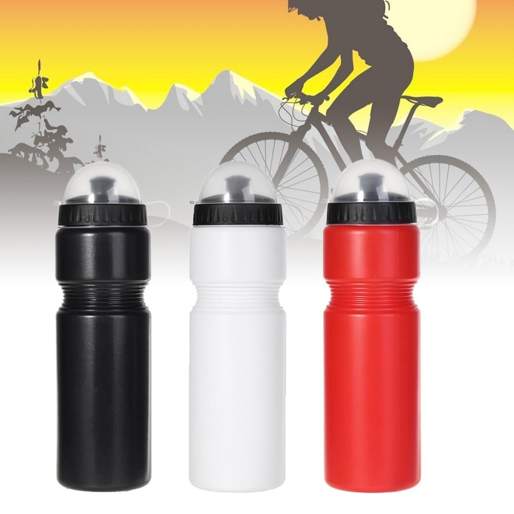 Botella de agua de 720ml para bicicleta de PE, portátil para acampar, deportes, ciclismo de montaña al aire libre
