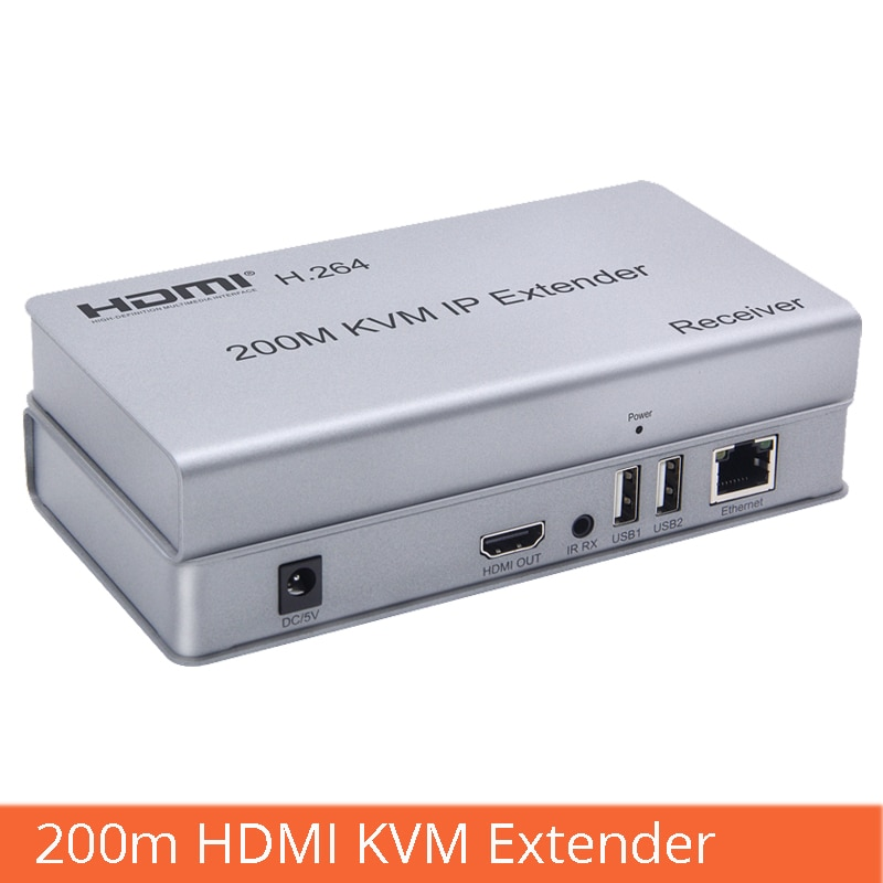 KVM Extender 200M HDMI-compatible To RJ45 Network Cable Amplification Transmission With USB Interface Mouse Keyboard Extension enlarge
