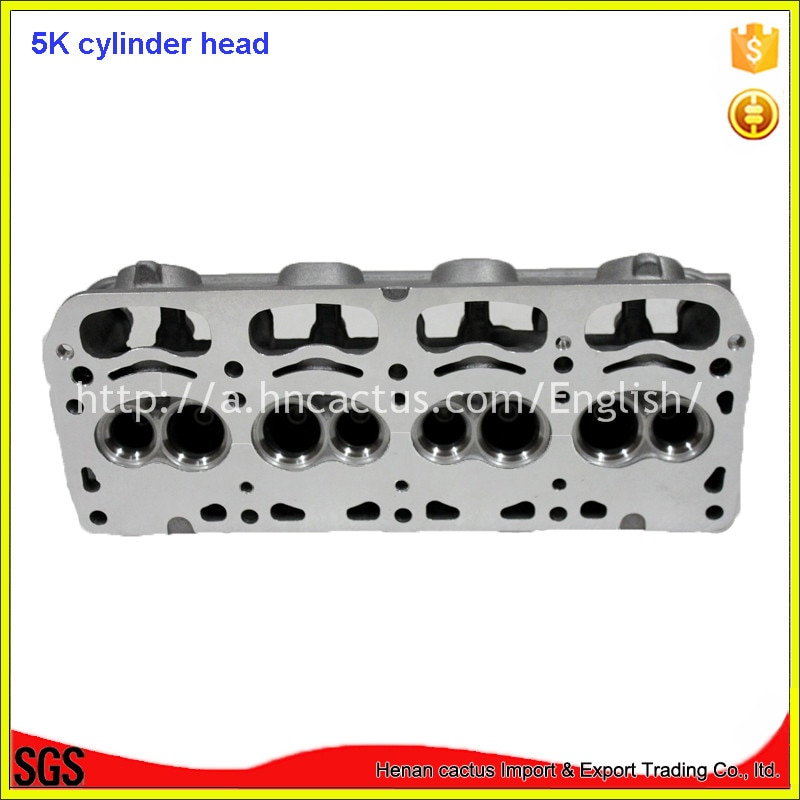 Partes del motor 11101-13062 cabeza de cilindro de aluminio 5K 5KU para toyota Corolla/Lite-ace 1486cc 1.5L
