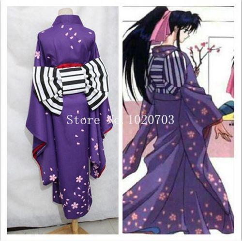 Rurouni Kenshin Samurai X: Trust and Betrayal Kamiya Kaoru kimono Cosplay Costum