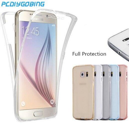 Cuerpo Completo cobertura de 360 grados cubierta funda para Samsung Galaxy J1 J3 J5 J7 2015 2016 J1 Mini Ace S3 S4 S5 S6 S7 edge Plus