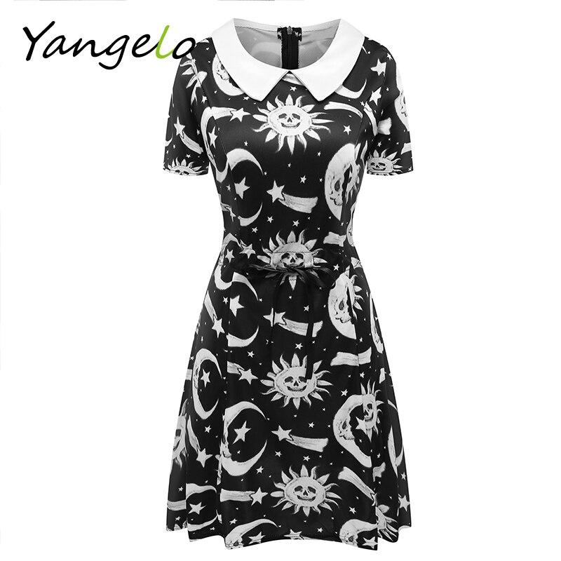cosmic doll dress punk style black summer dresses women harajuku new fashion summer dress