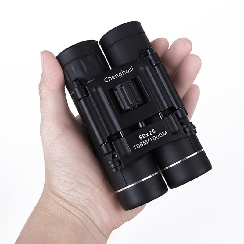 50X25 Mini Folding Binoculars Pocket Telescope Waterproof Opera Glasses for Bird Watching Hunting Telescope Professional