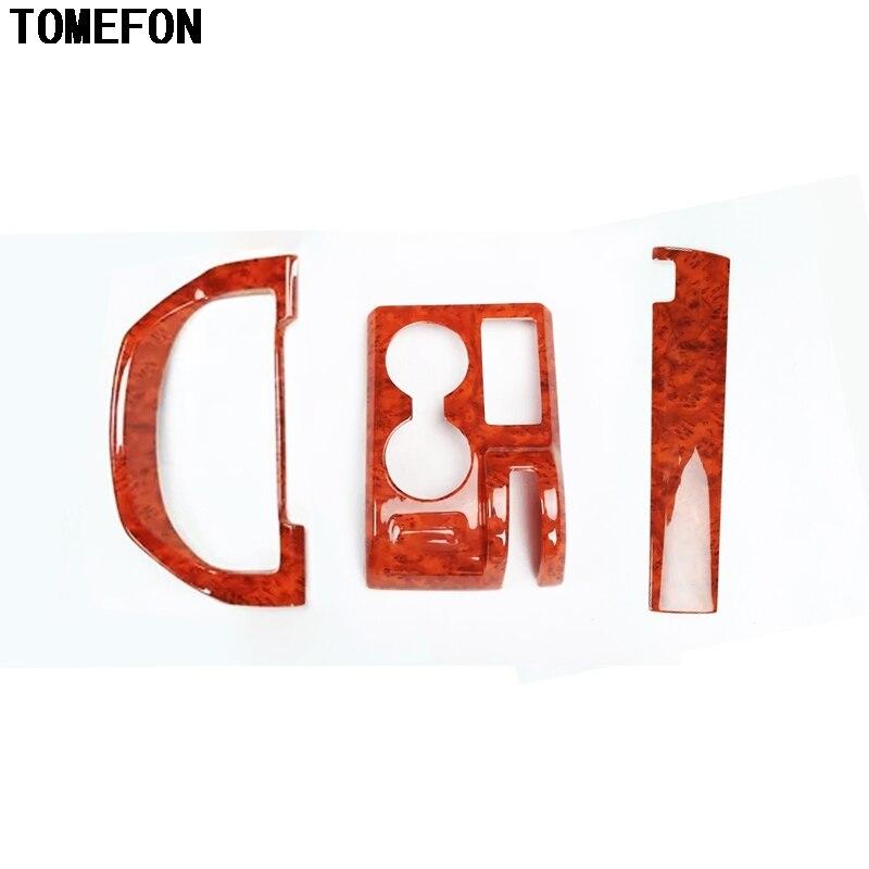 TOMEFON ABS צבע מיוחד Gear Shift Copliot אמצע לוח מחוונים מסגרת Trim כיסוי עבור הונדה CRV 2007 2008 2009 2010 LHD