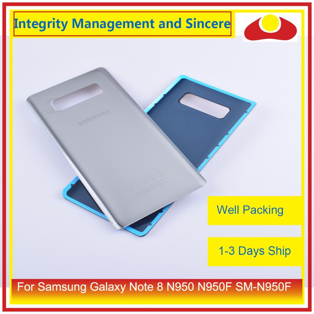 50Pcs/lot For Samsung Galaxy Note 8 N950 N950F SM-N950F N9500 Housing Battery Door Rear Back Glass Cover Case Chassis Shell enlarge