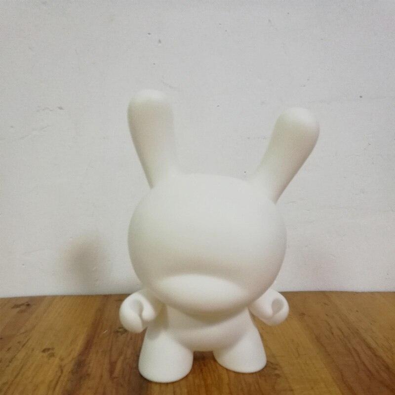 Горячая Распродажа 8 дюймов Kidrobot Dunny DIY Краска для ПВХ фигурку белый цвет с Opp сумкой