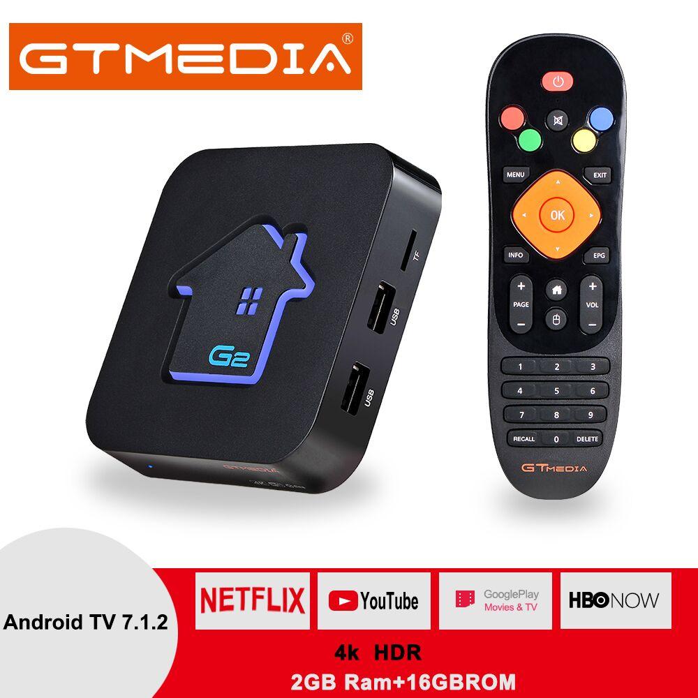 Original GTMEDIA G2 TV Box+server 4K HDR Android 7.1 Ultra HD 2G 16G WIFI Google Cast Netflix IPTV Set top Box Media Player