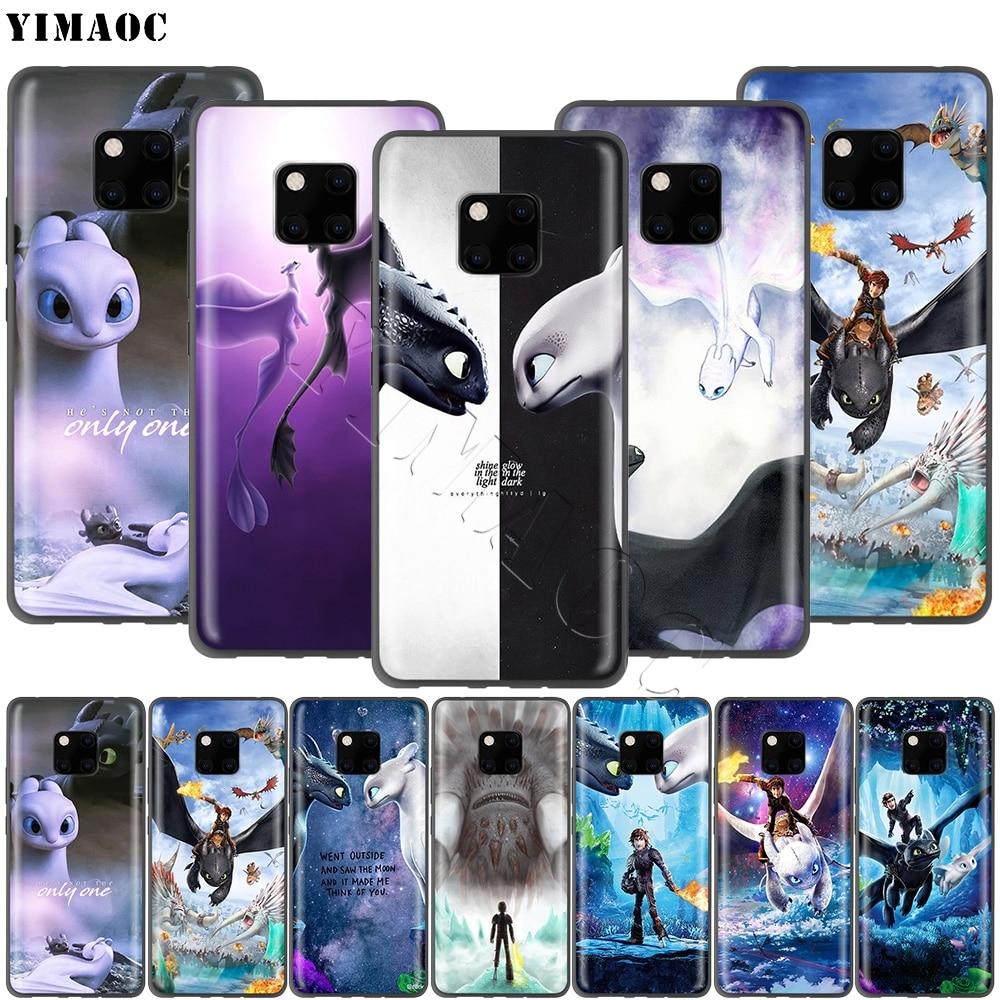 YIMAOC sin dientes cómo entrenar tu funda de dragón para Huawei Honor Mate P smart Y7 Y9 8C 30 20 10 8x Nova 3i 3 Lite Pro Prime