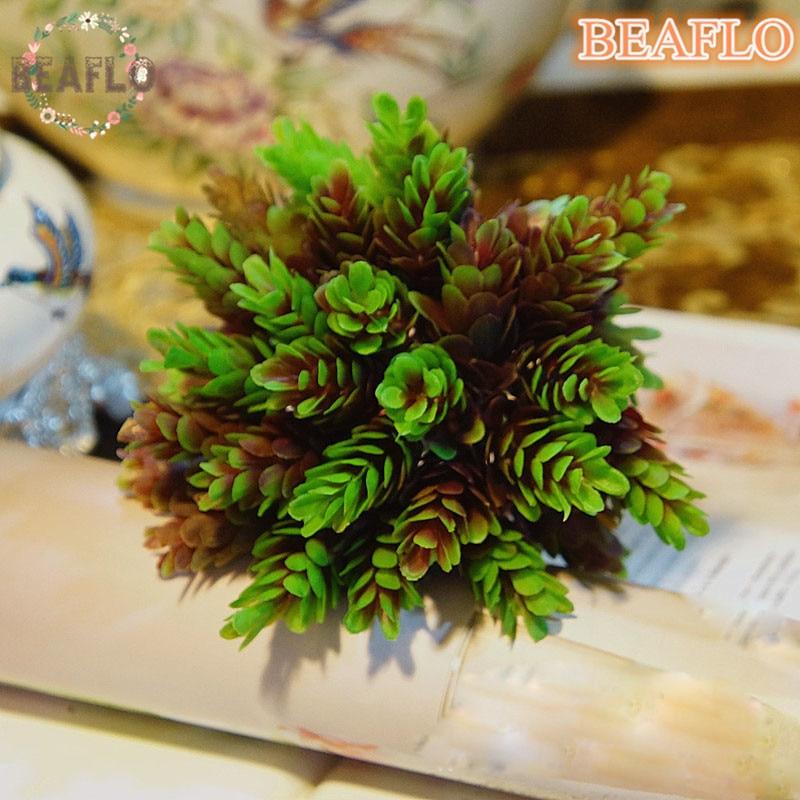 1 ramo de flores artificiales de plástico de 30 cabezas de piña europea para el hogar, boda, floristería decorativa