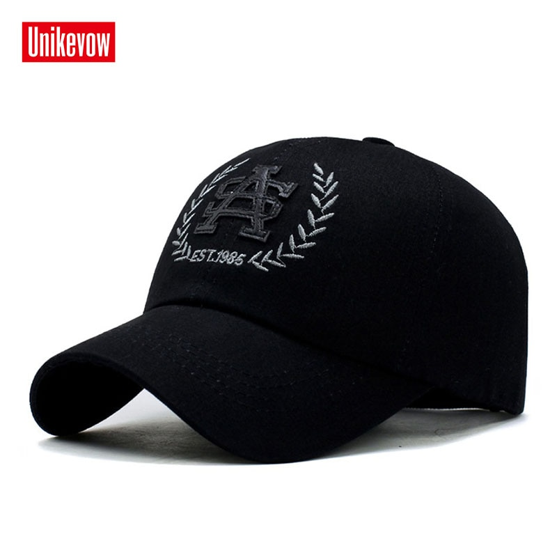 UNIKEVOW New arrivel  Outdoor caps for men and women 100% cotton baseball caps Casual hat with PU embroidery