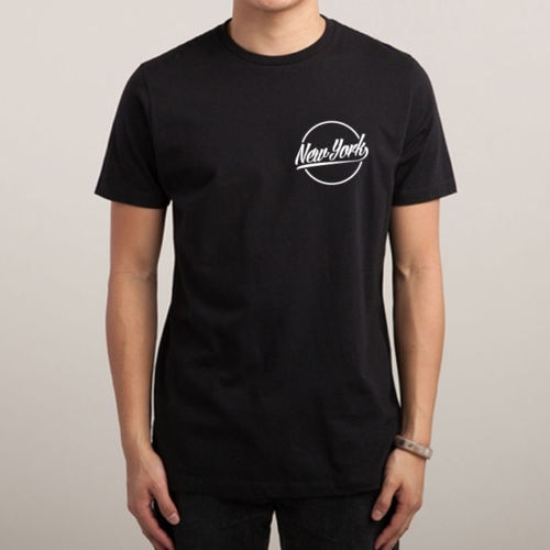 Nova iorque círculo peito logotipo impresso camisa dos homens bronx brooklyn hype swag t camisa superior tshirt unisex mais tamanho e Color-A293