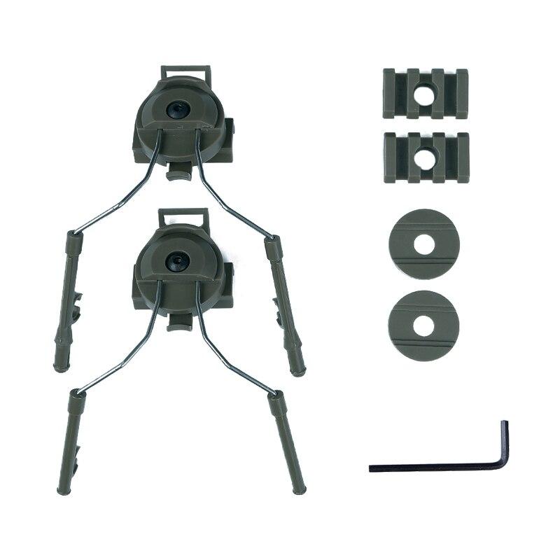 Conjunto Adaptador de fone de Ouvido Peltor tático Capacete Ops Núcleo Capacete Rail Adapter Rail Mount Kit Titular Rápido Airsoft Paintball 4 cores