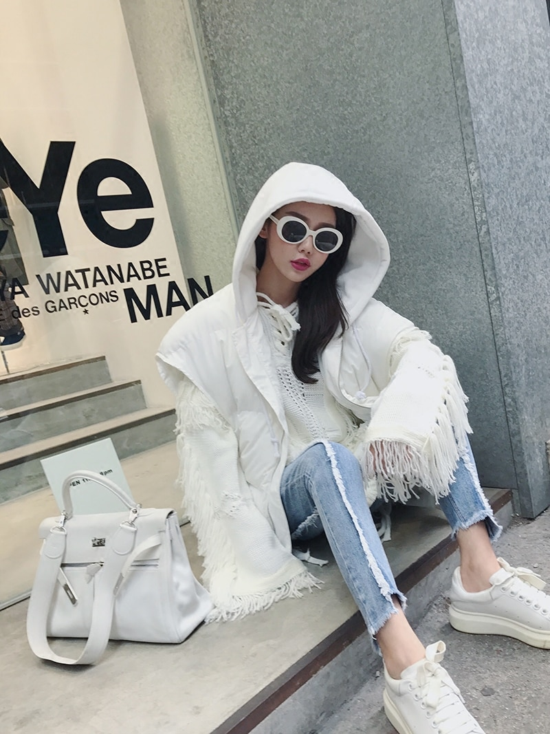 2019 Women Sweaters And Pullovers Top Cotton Wool Spandex Acrylic Casual Full New Women's Sweater Tassel Hollow Hedge Knit Tide enlarge