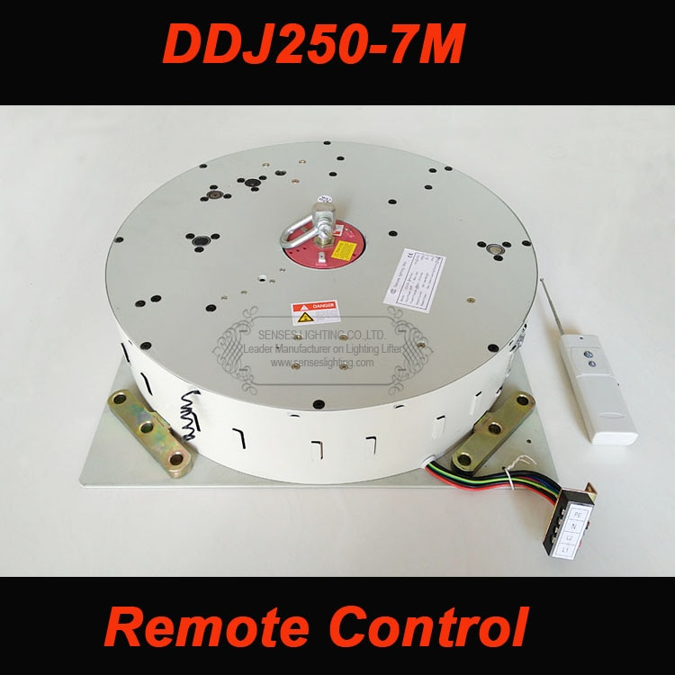 250KG 7M Auto Remoto + polipasto controlado para lámpara de araña iluminación dispositivo reductor iluminación elevador 110 V-120 V, 220 V-240 V envío gratis