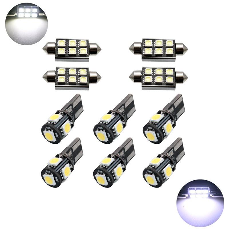 10pcs CANBUS Error Free C5W W5W Bulbs Car LED Light 31mm 36mm 39mm 41mm Car Interior Light Festoon Dome Reading Lights Lamp