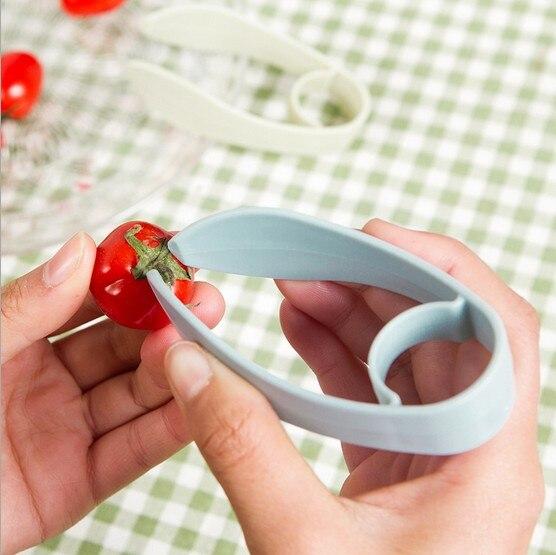 1PC Kitchenware Tomato Stalks Fruit Strawberry Knife Stem Remover Strawberry Slicer Strawberry Huller KX 319